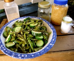Green Beans and Zucchini