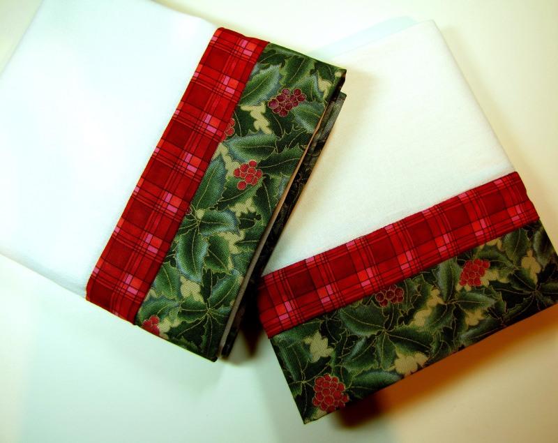 Trimmed Tea Towels