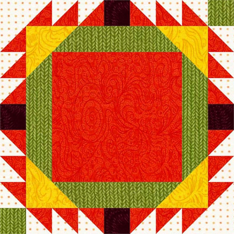 Love in a Tangle Quilt Block