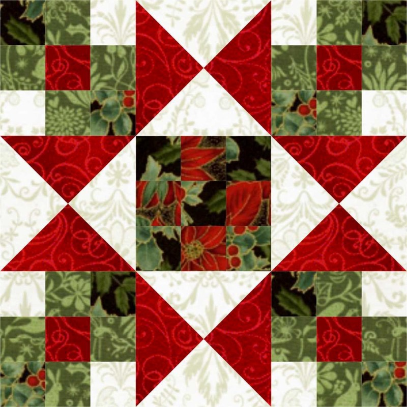 Star Crossed Christmas Quilt Block Lc S Cottage