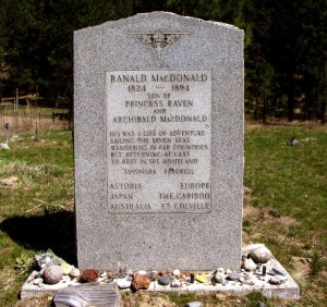 Ranald MacDonald Tombstone