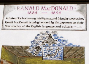 Ranald MacDonald Sign Board 3