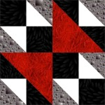 Triangle Weave Quilt Block