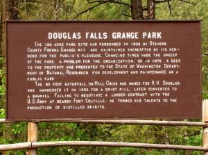 Douglas Falls Sign