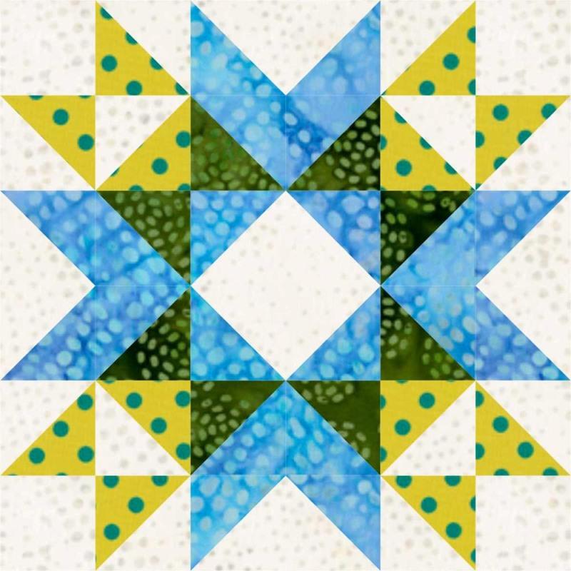 Wyoming Valley Star Quilt Block