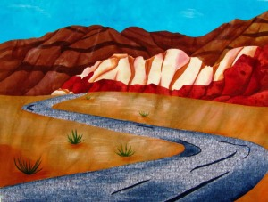 Desert Scene After Painting