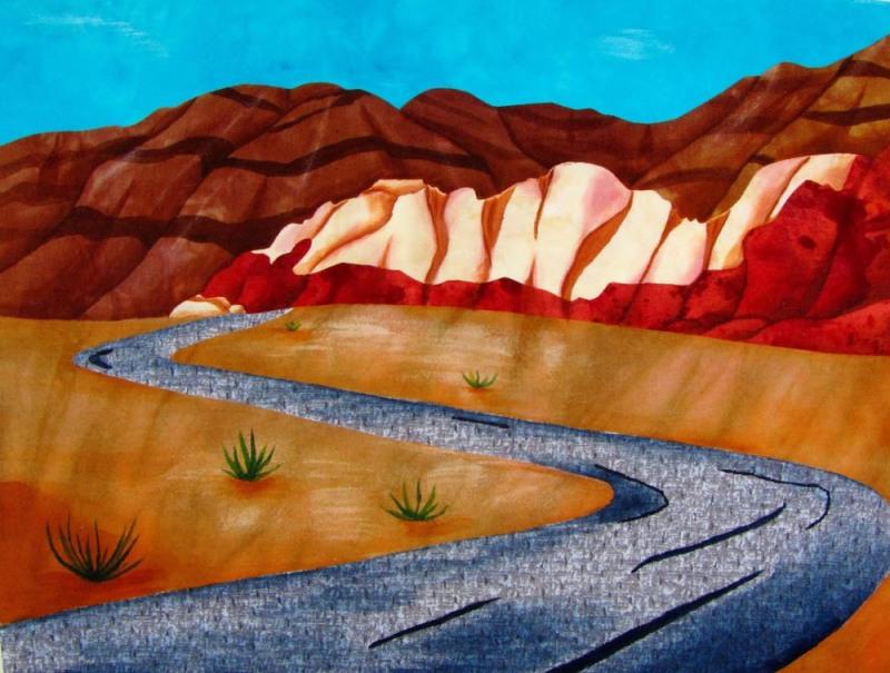 Desert Scene After Painting