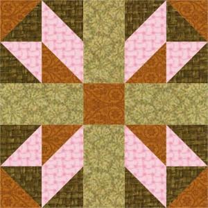 Alpine Cross Quilt Block