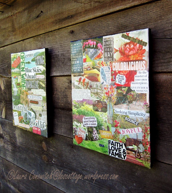 One Little Word Vision Boards