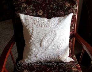 Initial J Pillow