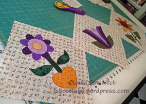 One Monthly Goal - Floral Blocks